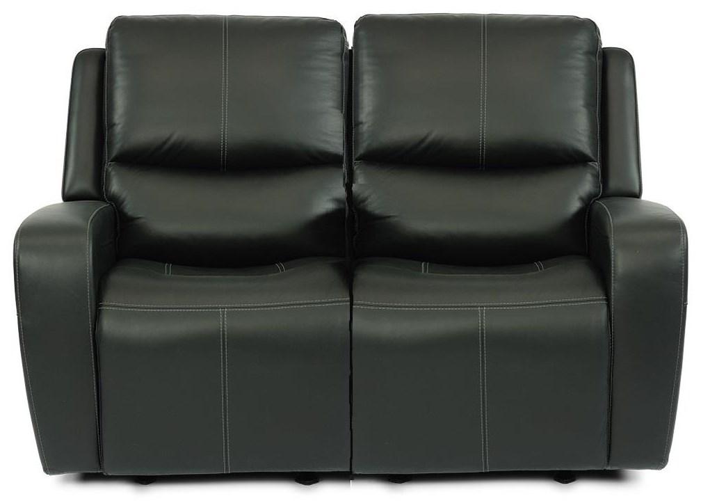 Baxter Power Headrest Reclining Loveseat by Flexsteel at Crowley Furniture & Mattress