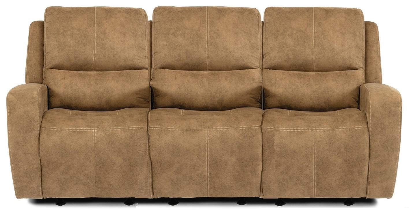 Baxter Power Headrest Reclining Sofa by Flexsteel at Crowley Furniture & Mattress