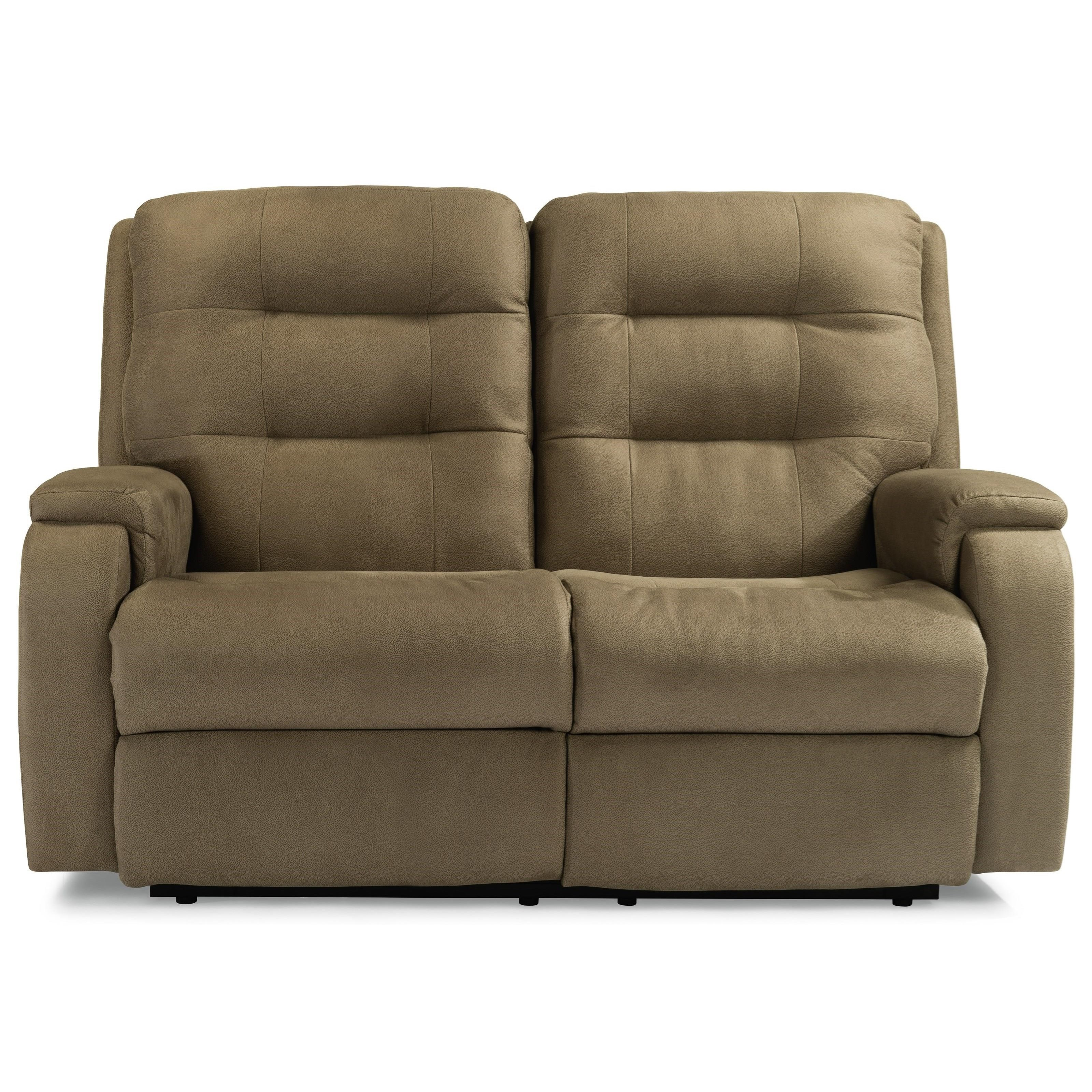 Granite Power Reclining Loveseat by Flexsteel at EFO Furniture Outlet