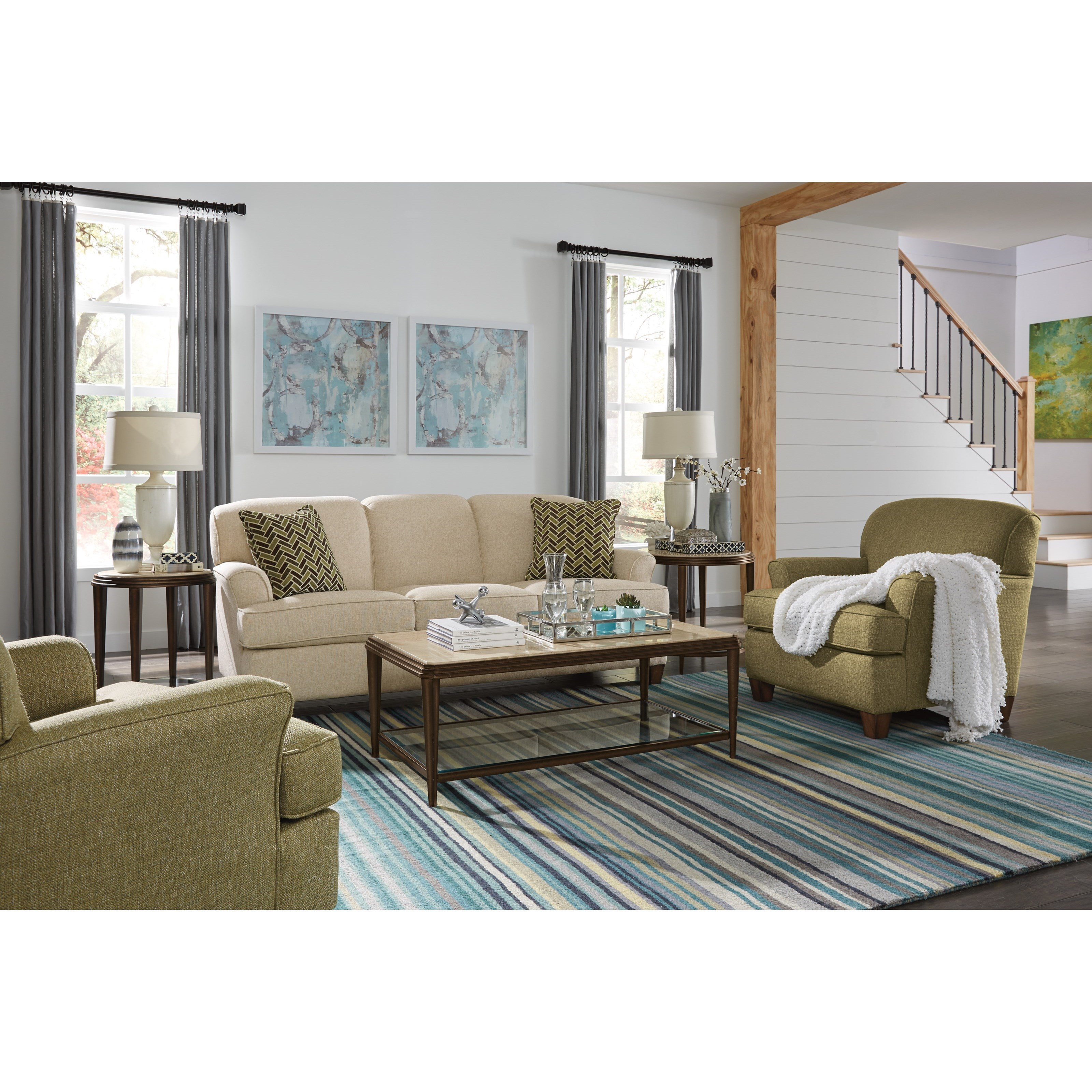 Atlantis Living Room Group by Flexsteel at Rooms and Rest
