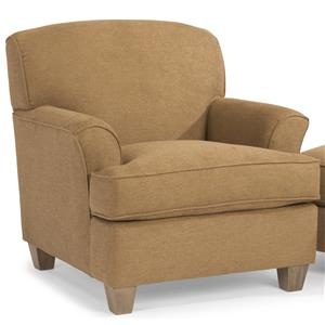 Casual Chair with Rounded Flare Arms