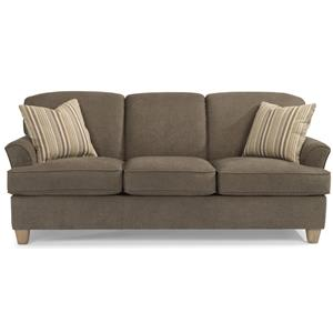 Casual Sofa with Flared Arms