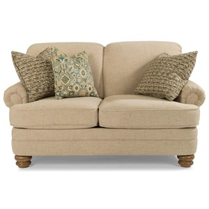 Traditional Rolled Back Love Seat