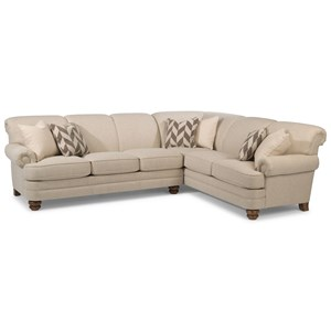 5 Seat Sectional with Left Arm Facing Sofa