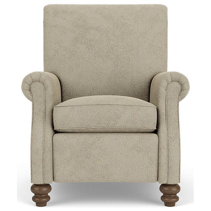 """F"" High Leg Recliner by Flexsteel at Crowley Furniture & Mattress"