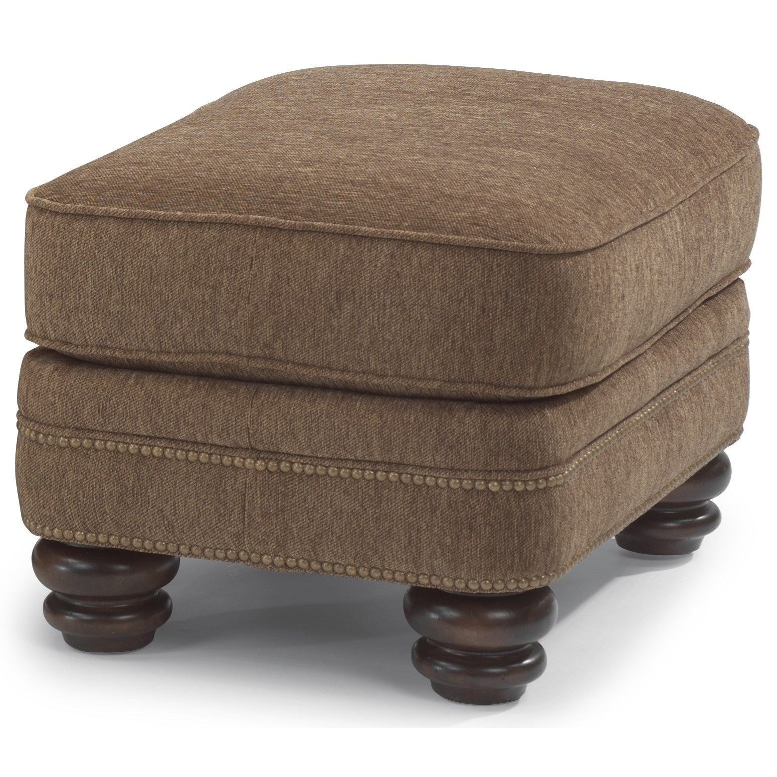 Bay Bridge Traditional Ottoman by Flexsteel at Jordan's Home Furnishings