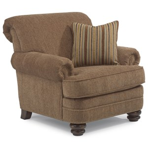Traditional Rolled Back Chair