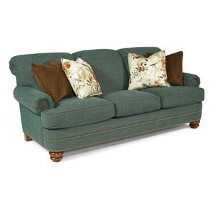 Traditional Rolled Back Sofa