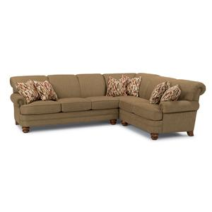Two Piece Sectional Sofa with RAF Corner Sofa