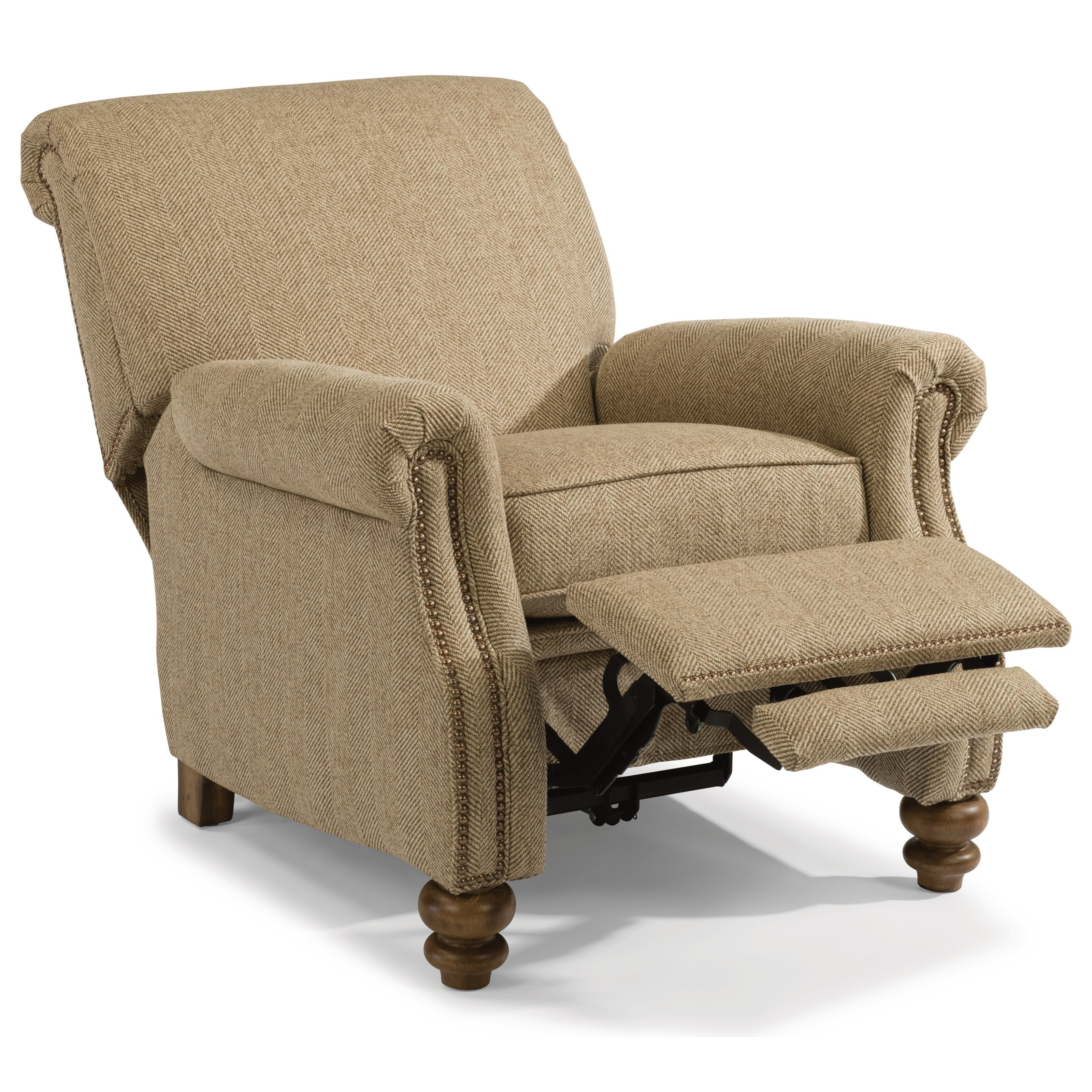 Bay Bridge High Leg Recliner by Flexsteel at Mueller Furniture