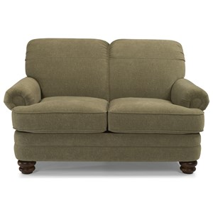 Traditional Rolled Back Loveseat