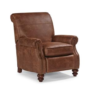 Traditional Power Motion High Leg Recliner with Rolled Back