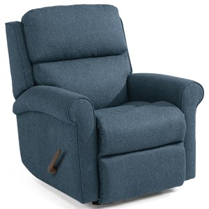 Casual Swivel Gliding Recliner with Rolled Arms