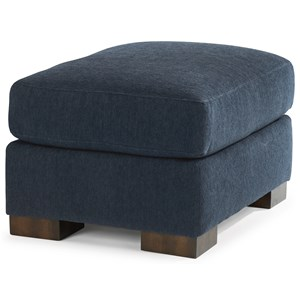 Contemporary Ottoman with Luxury Cushion