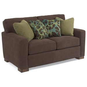 Contemporary Loveseat with Loose Pillow Back