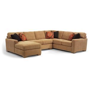 Contemporary Sectional Sofa with 3 Modular Pieces