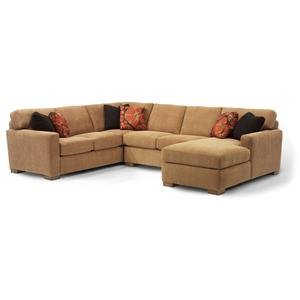 Contemporary Sectional Sofa with 3 Modular Pieces