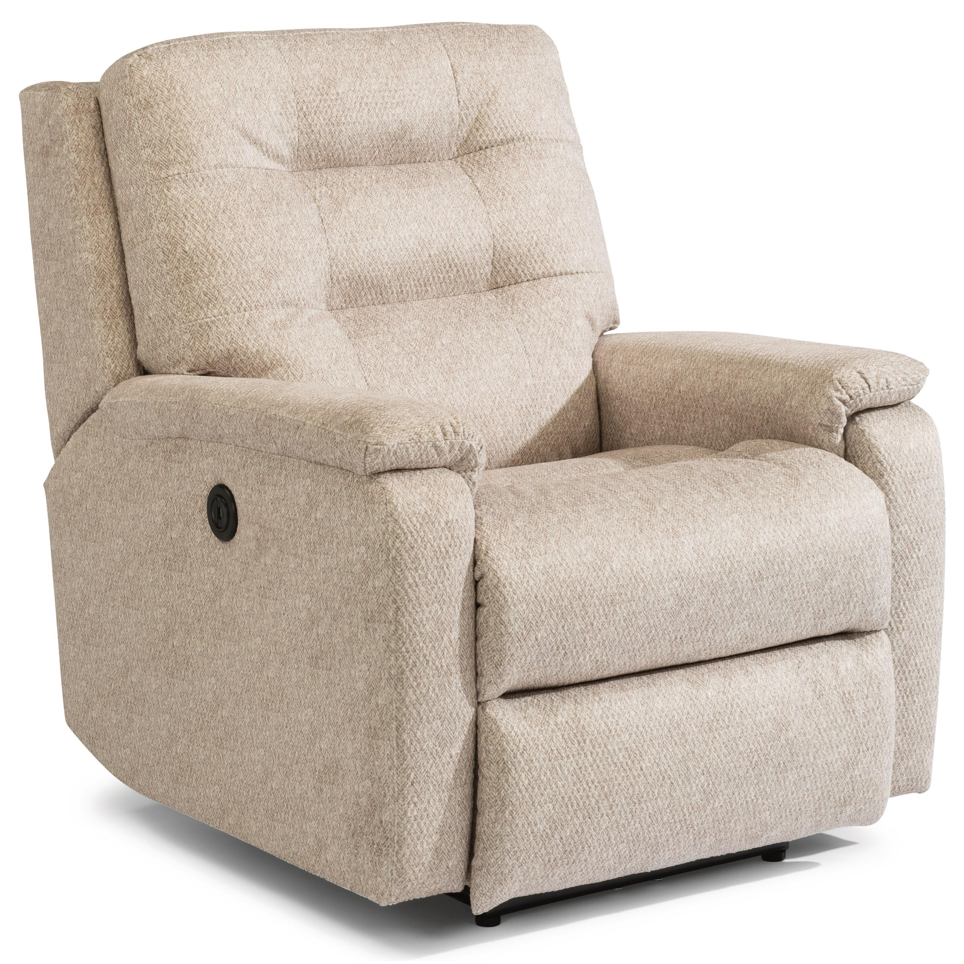 Caleb Power Rocking Recliner by Flexsteel at Steger's Furniture