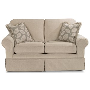 Casual Loveseat with Skirted Base
