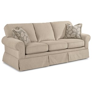Casual Sofa with Skirted Base