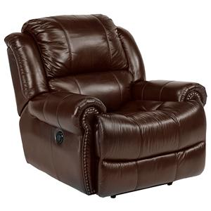 Elegant Power Recliner with Nail Head Trim