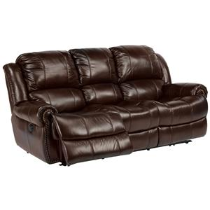 Power Reclining Sofa with Traditional Furniture Style