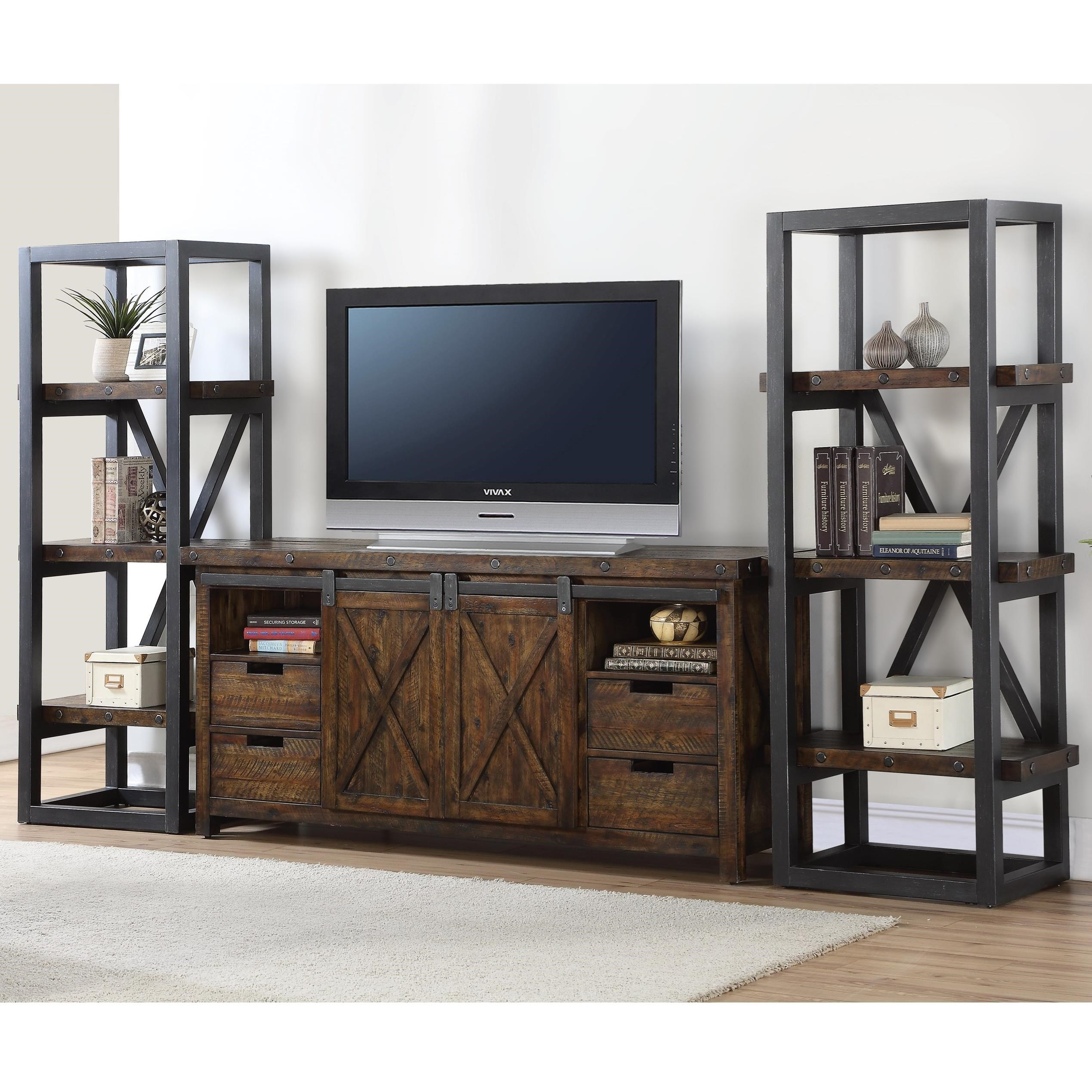 Carpenter Entertainment Set by Flexsteel Wynwood Collection at Northeast Factory Direct