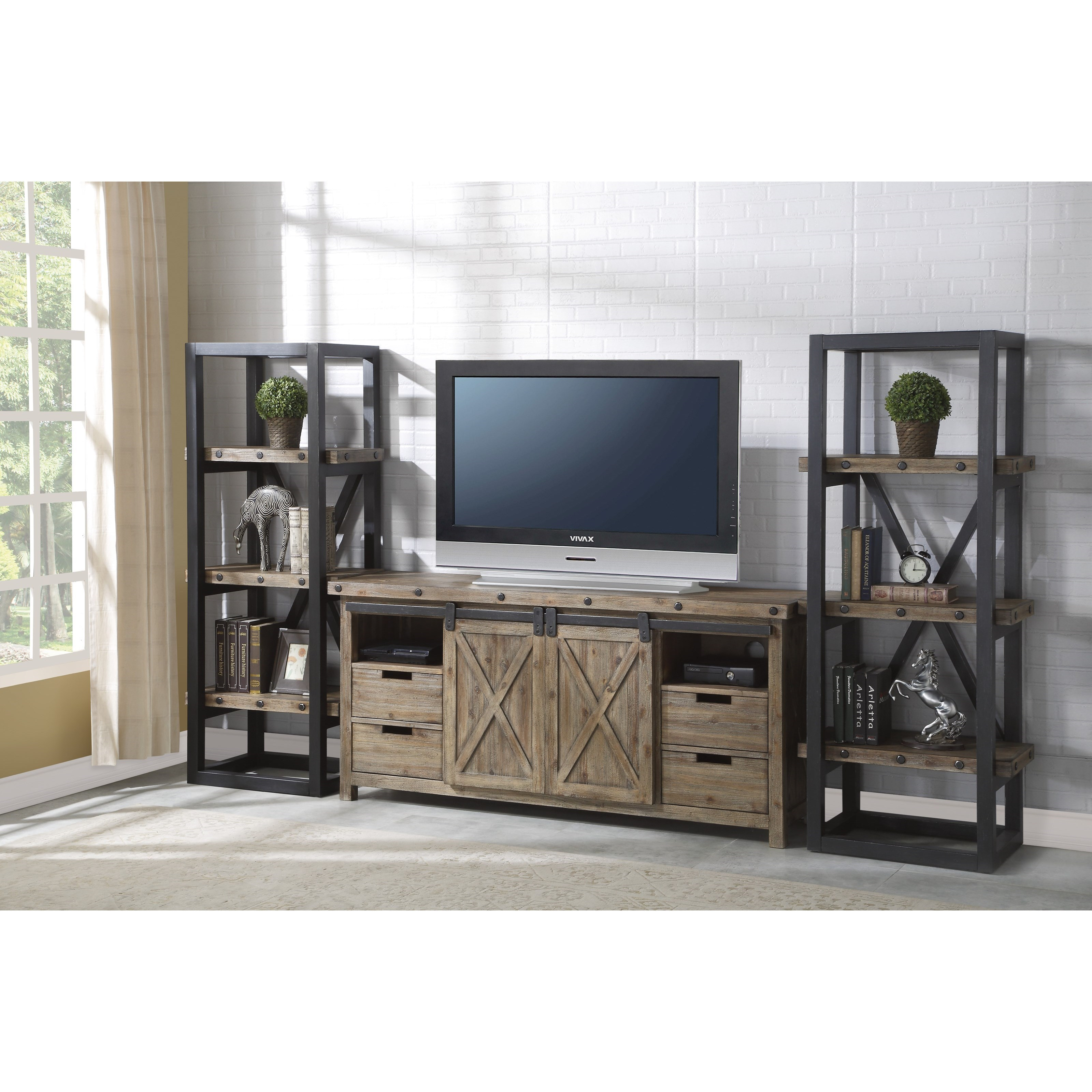 Carpenter Entertainment Set by Flexsteel Wynwood Collection at Turk Furniture