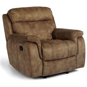 Glider Recliner with Padded Headrest