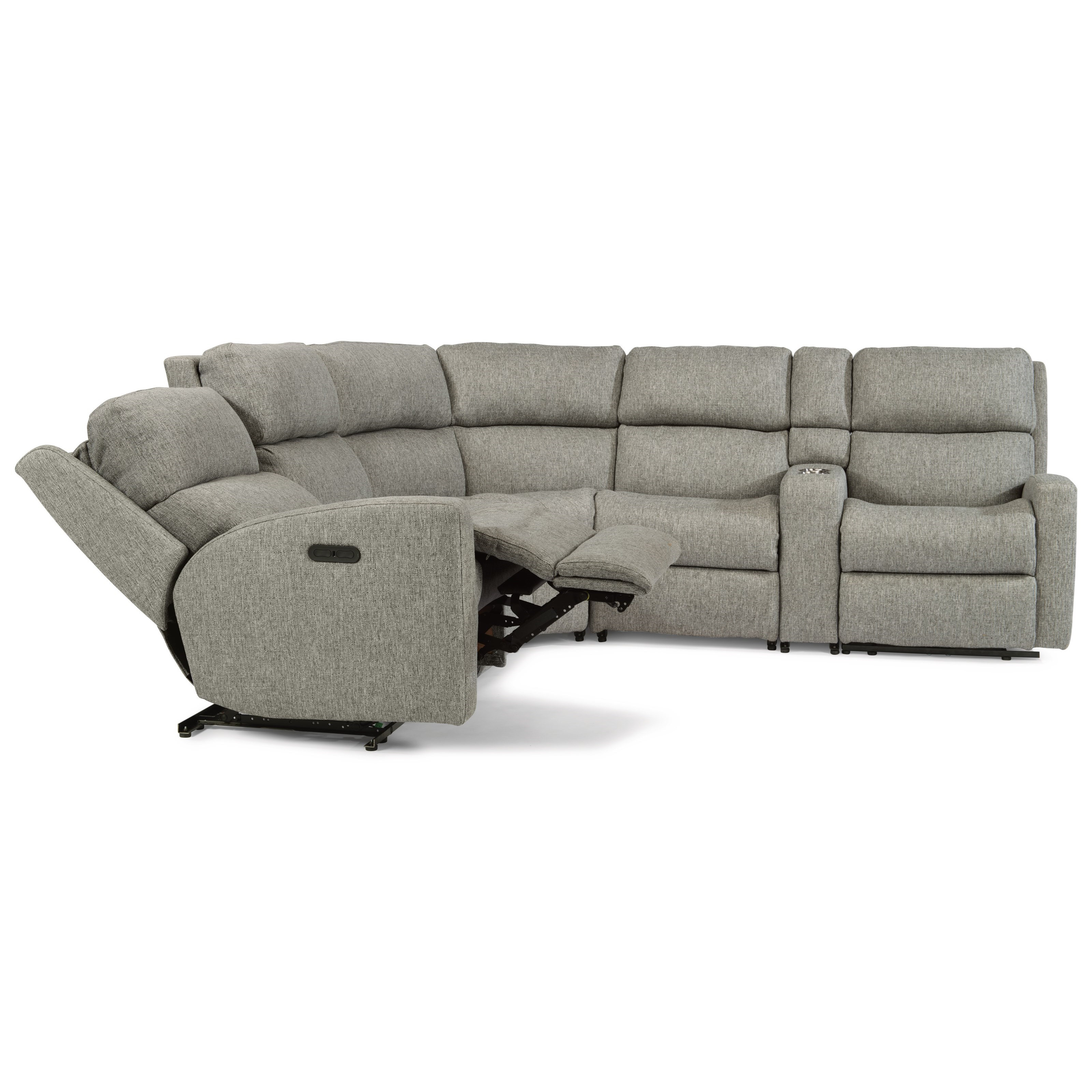 Catalina 6 Piece Manual Reclining Sectional by Flexsteel at Mueller Furniture