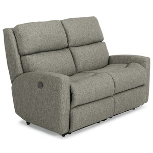Contemporary Casual Reclining Loveseat