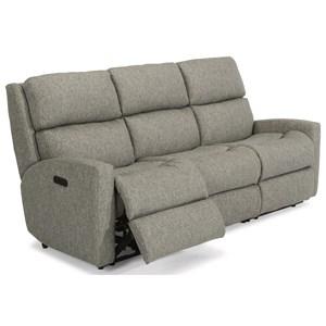 Contemporary Casual Reclining Sofa