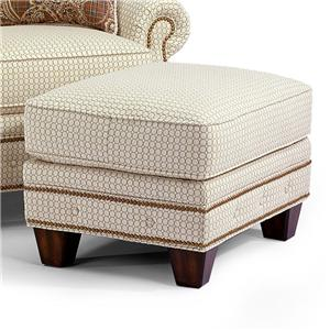 Transitional Ottoman with Button-Tufts and Nailhead Trim