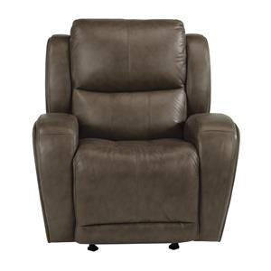 Contemporary Power Gliding Recliner with USB Port