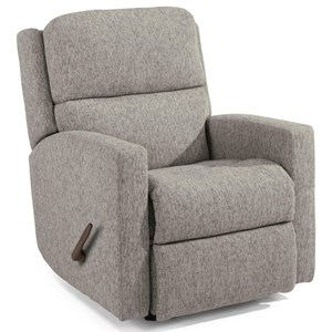 Transitional Swivel Gliding Recliner with Rolled Arms