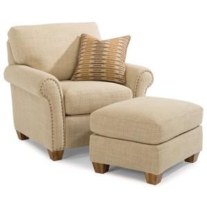 Flexsteel Christine Chair & Ottoman Set