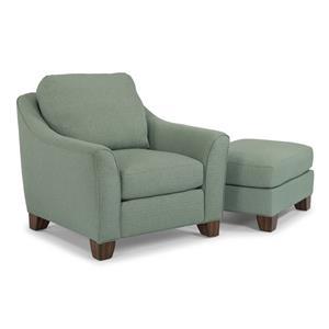 Flexsteel Claudine Chair & Ottoman Set