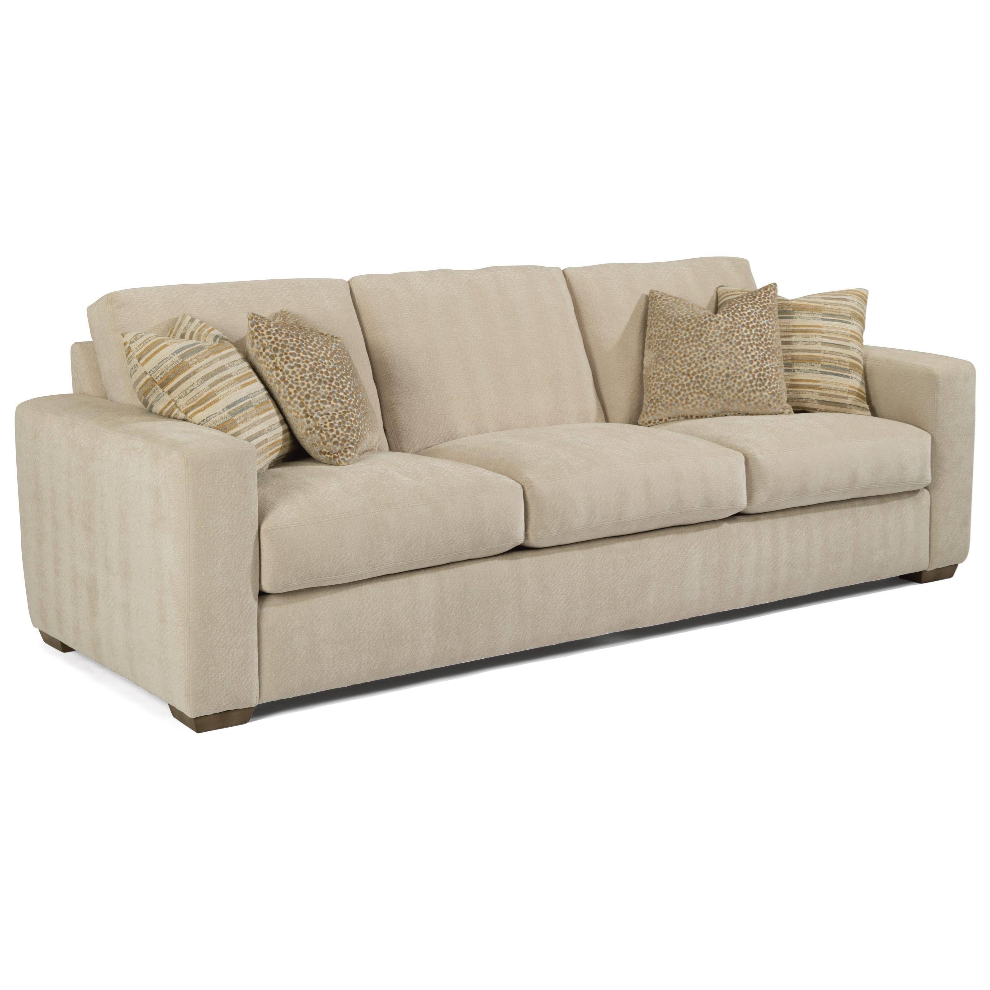 "Collins 104"" Three-Cushion Sofa by Flexsteel at Mueller Furniture"