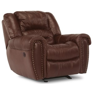 Casual Power Recliner with Power Headrests