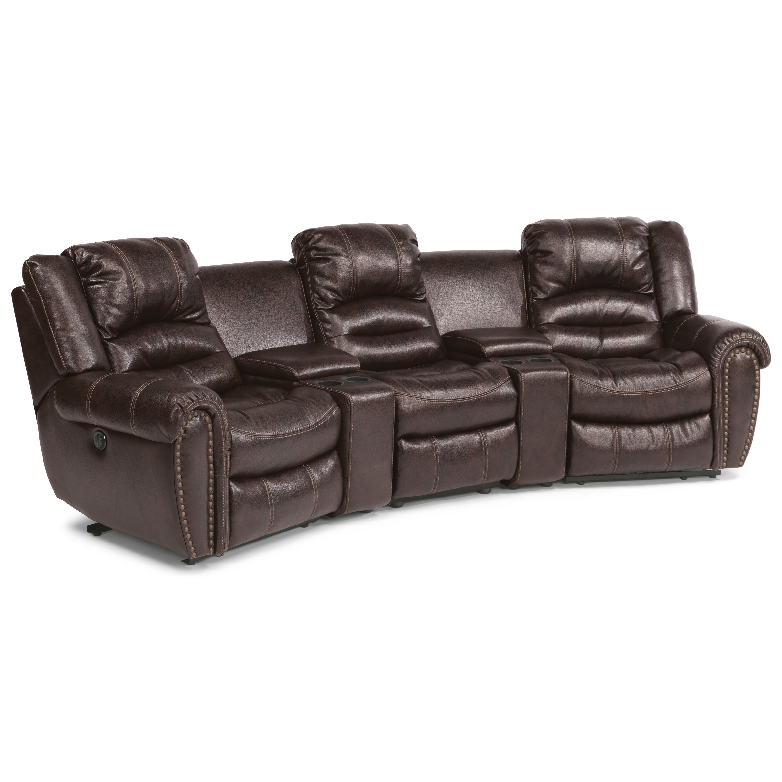 Latitudes - Town 5-Pc Power Sectional with Power Headrest by Flexsteel at Steger's Furniture