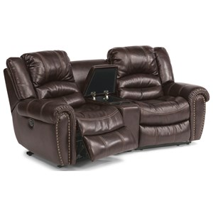 Three Piece Power Reclining Sectional Sofa with Console