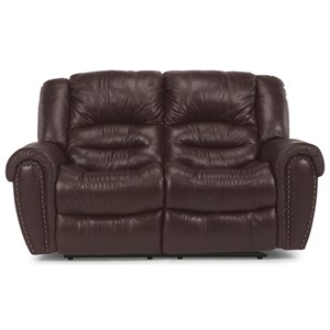 Power Reclining Love Seat with Power Headrest and USB Port