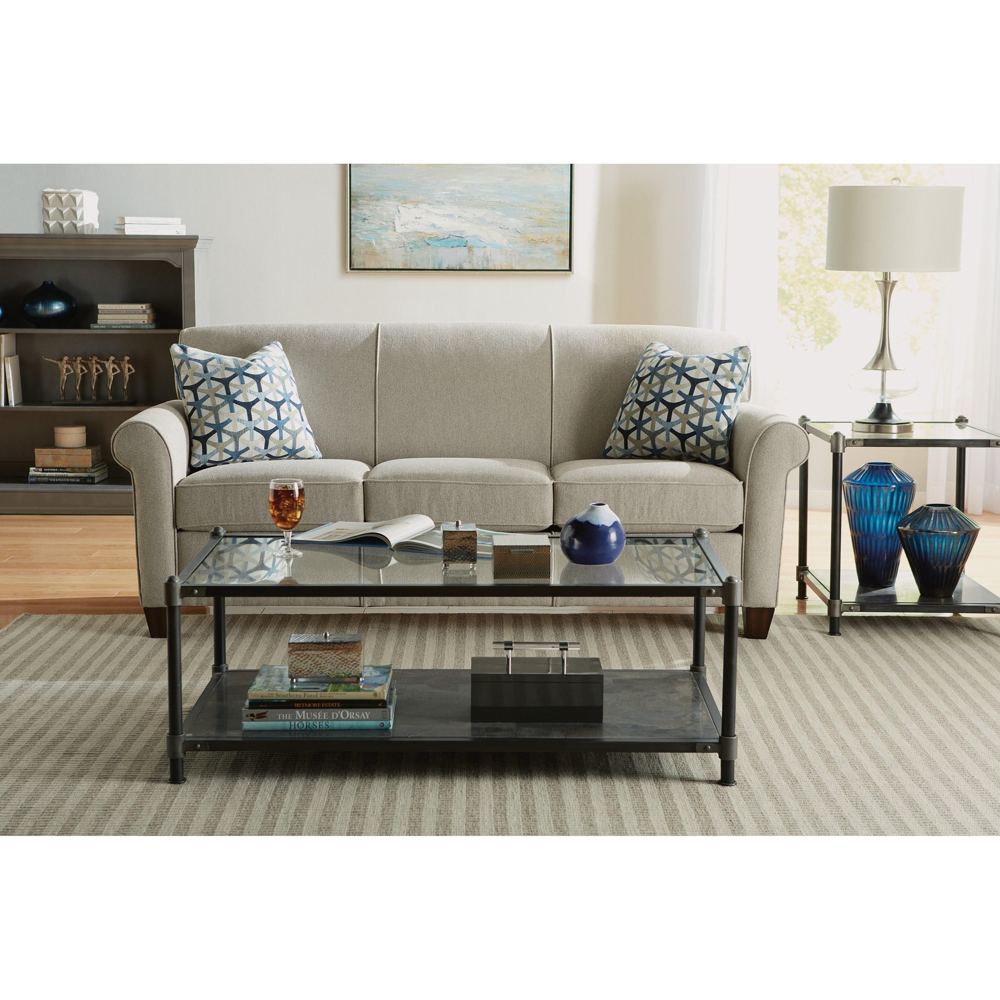 Dana Stationary Sofa by Flexsteel at Mueller Furniture