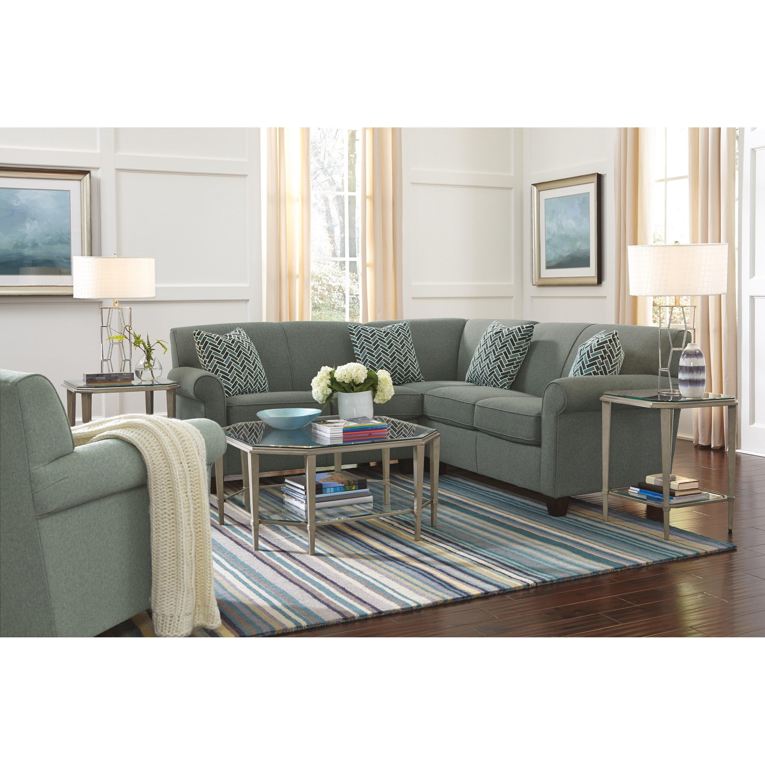 Dana 2 Pc Corner Sectional Sofa by Flexsteel at Mueller Furniture