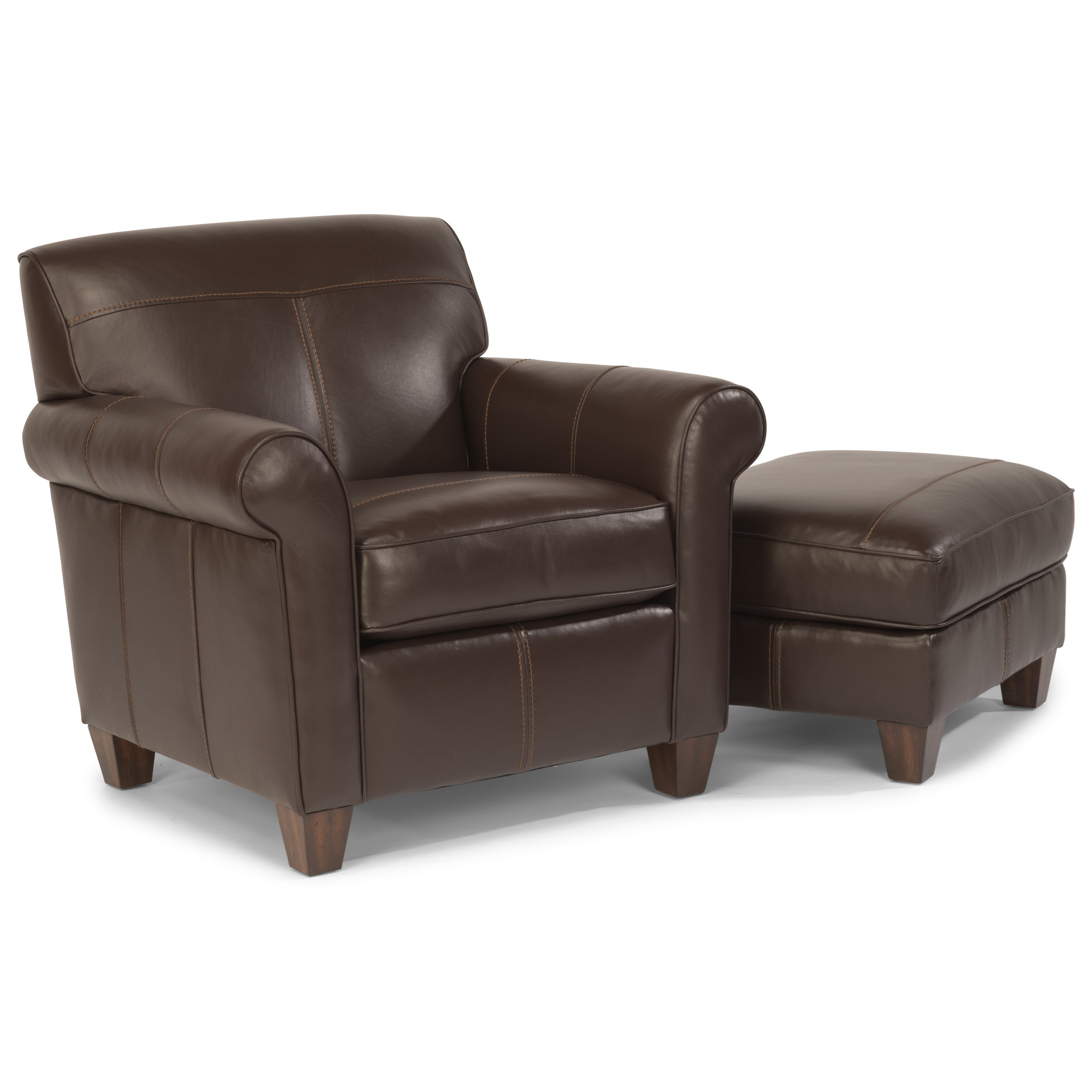Dana Chair and Ottoman by Flexsteel at Jordan's Home Furnishings