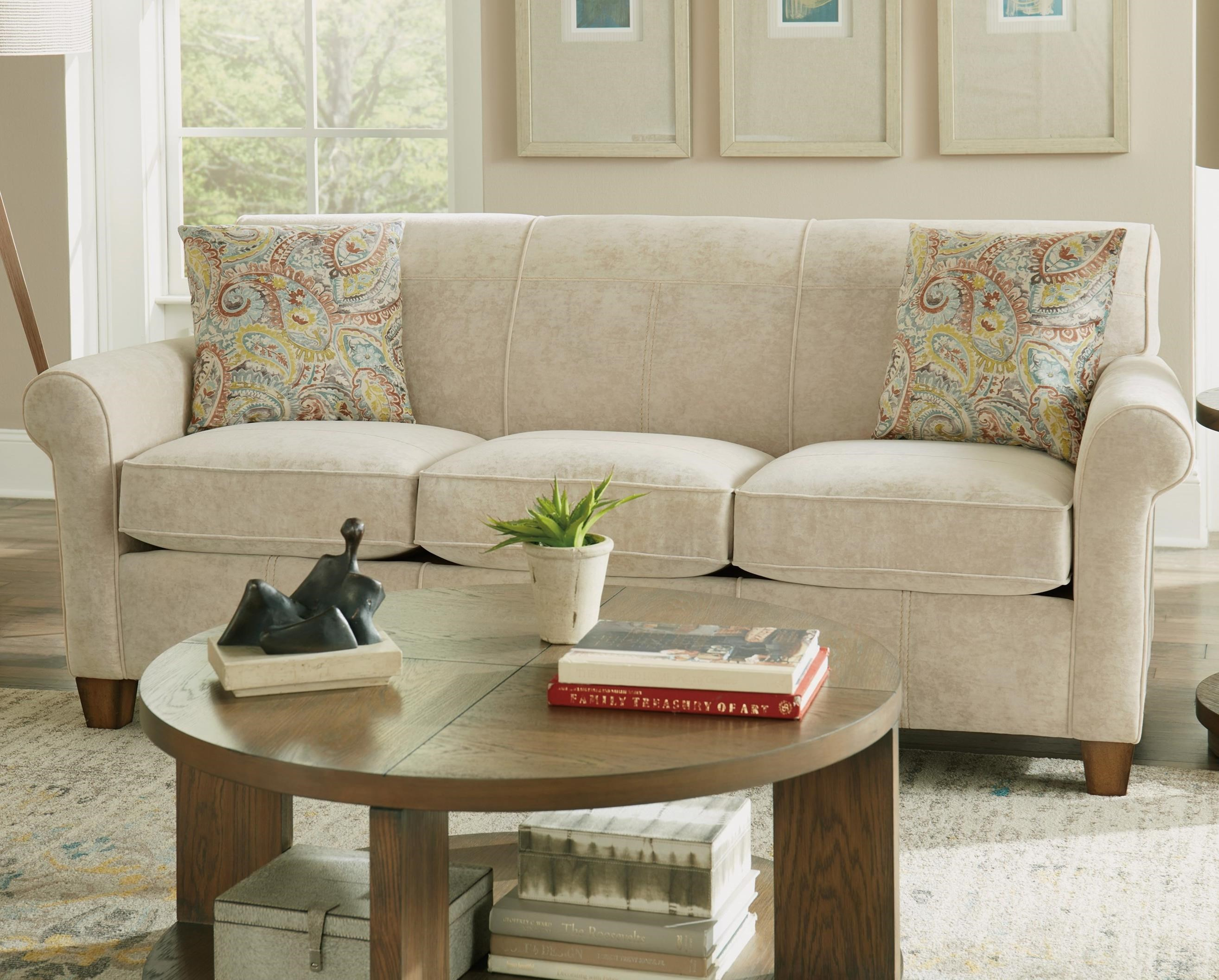 Dana Stationary Sofa by Flexsteel at Fisher Home Furnishings
