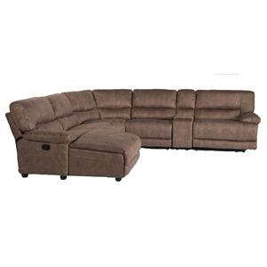 Six Piece Power Reclining Sectional Sofa with LAF Chaise