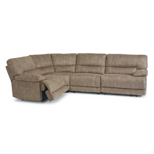 Reclining Sectional Sofa with Large Pillow Arms