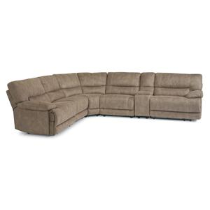 Reclining Sectional Sofa with Plush Pillow Arms