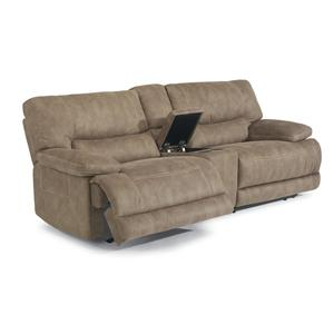 Power Reclining Sectional Sofa with Middle Arm Console